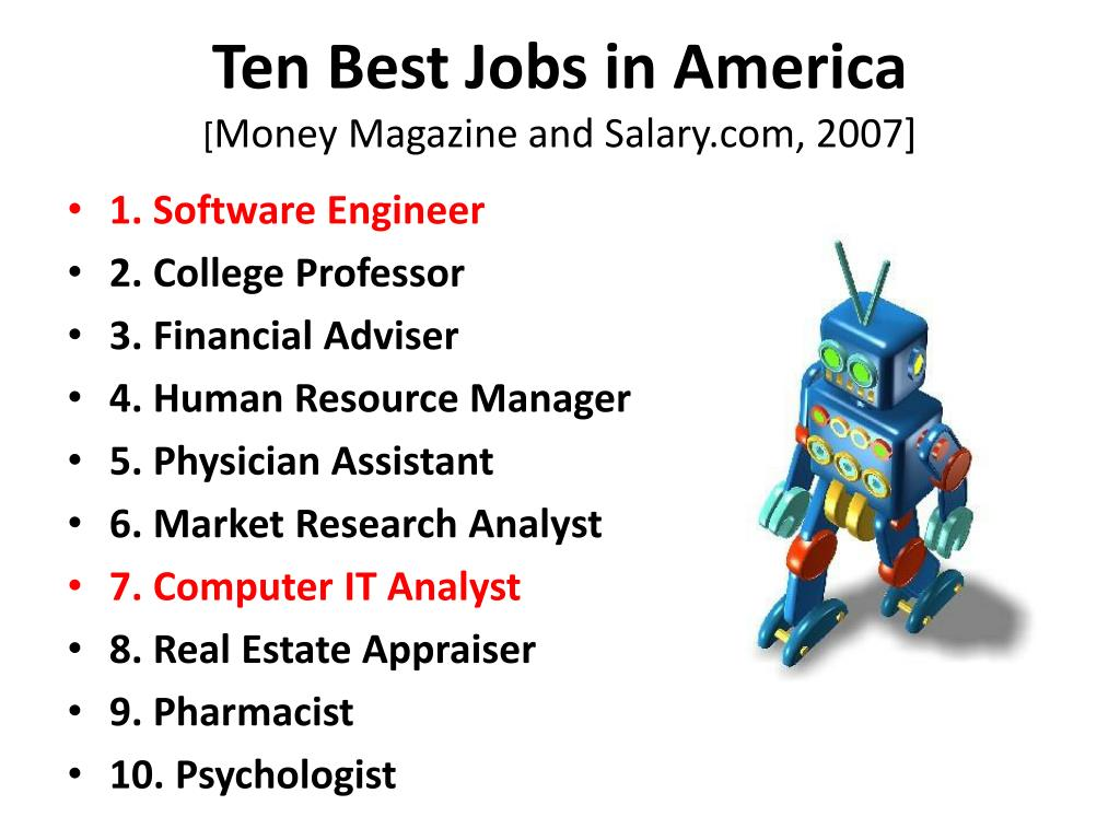 Ten Best Jobs in America