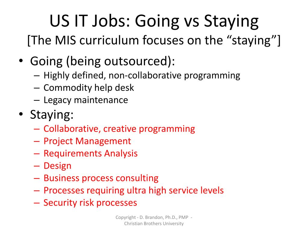 US IT Jobs: Going vs Staying