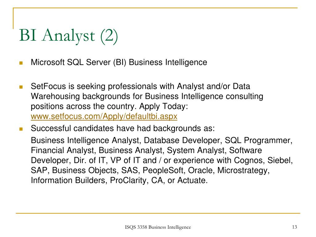 BI Analyst (2)