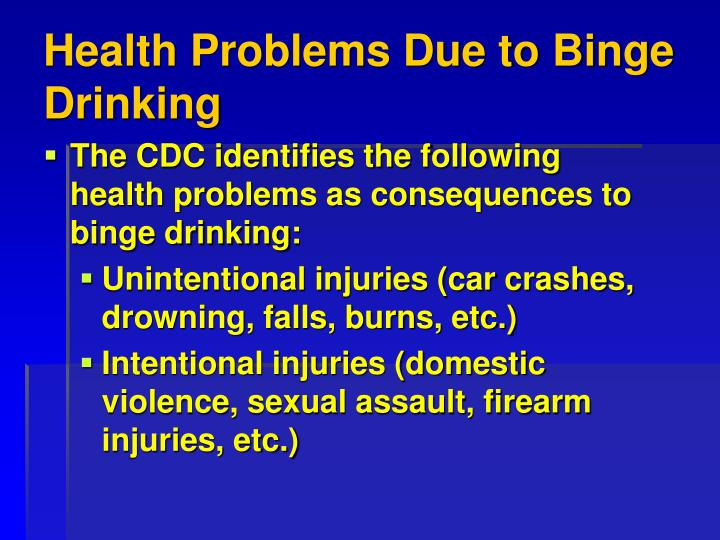 Health Problems Due to Binge Drinking
