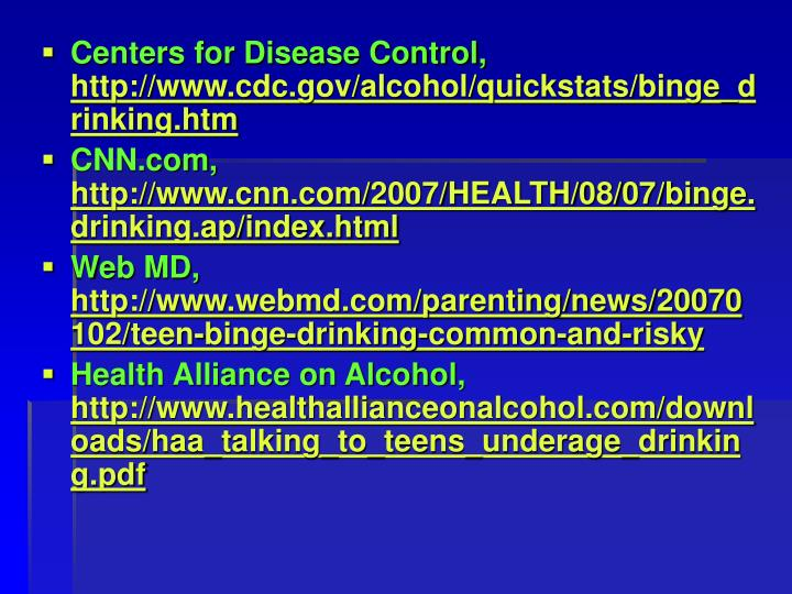 Centers for Disease Control,