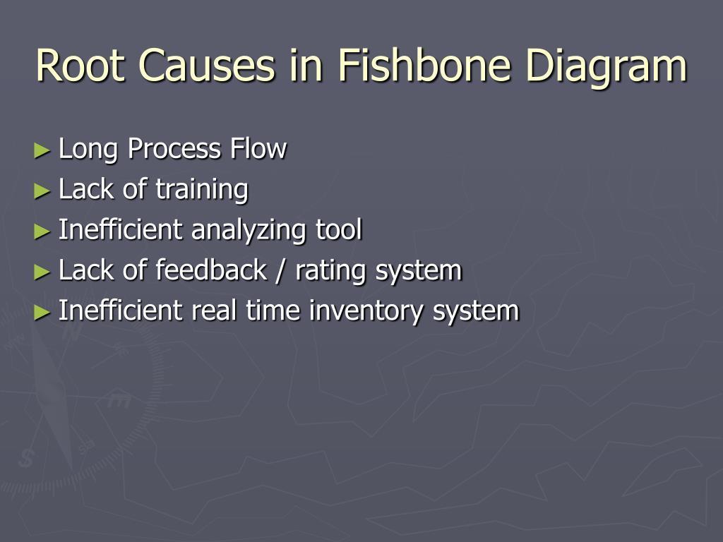 Root Causes in Fishbone Diagram