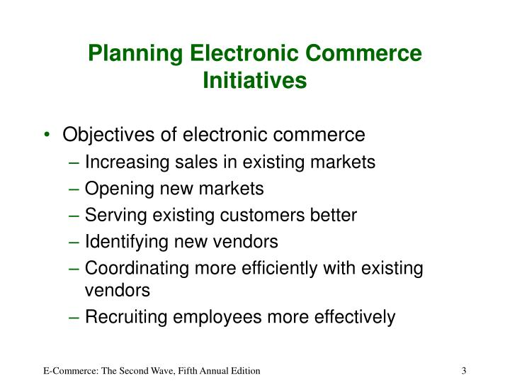 Planning electronic commerce initiatives