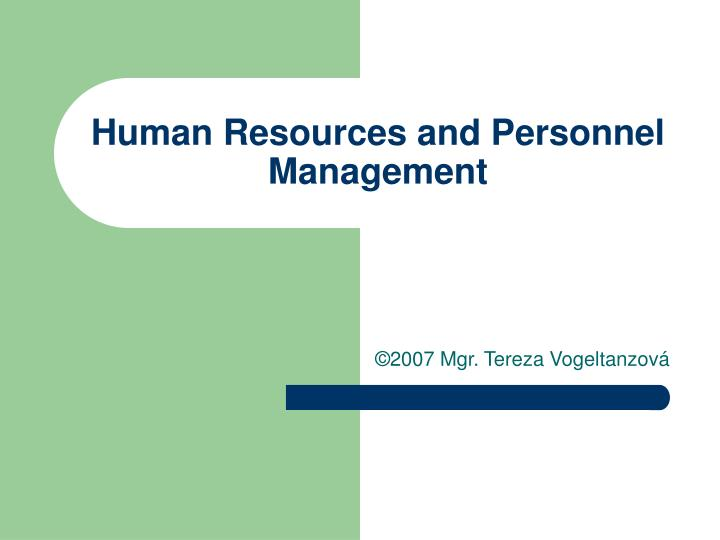 Human resources and personnel management l.jpg