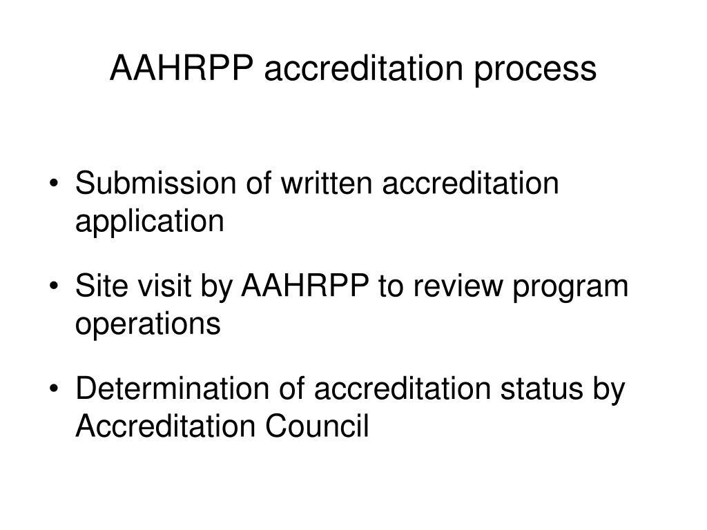 AAHRPP accreditation process