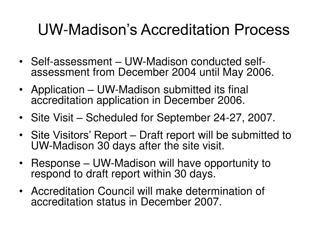 UW-Madison's Accreditation Process