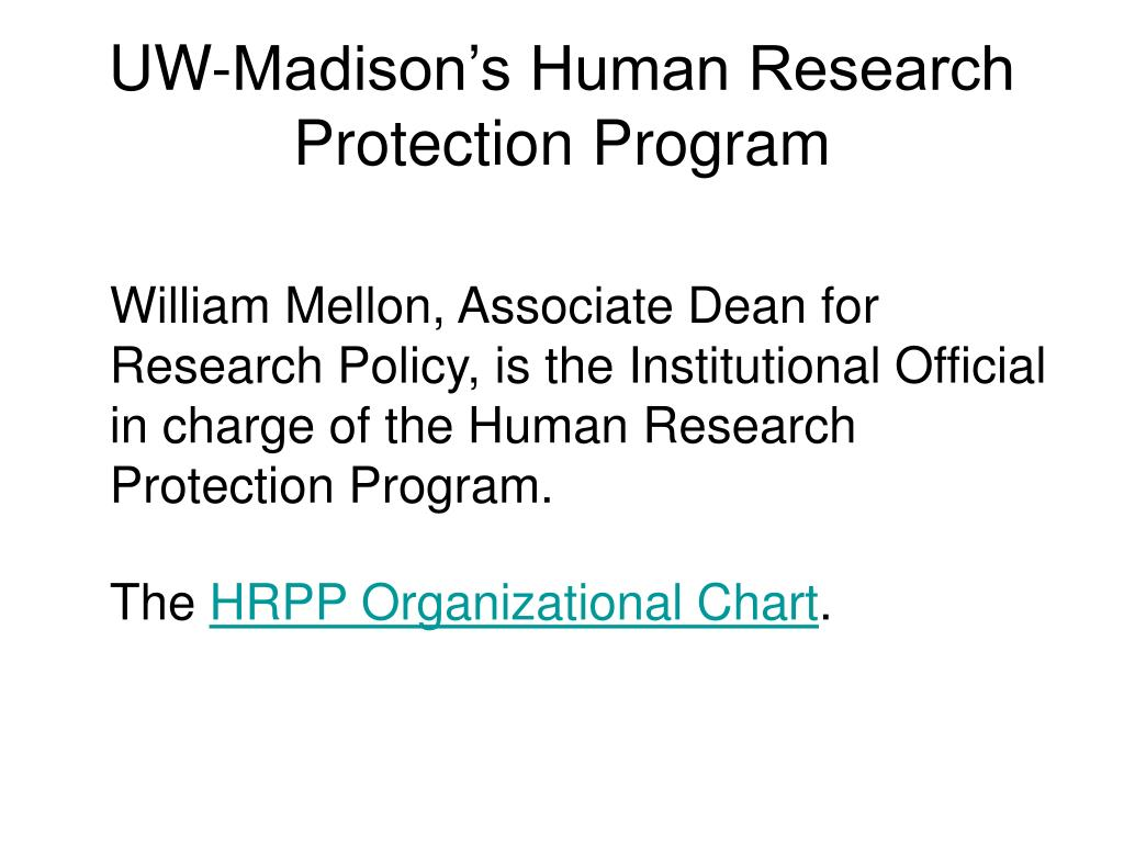 UW-Madison's Human Research Protection Program