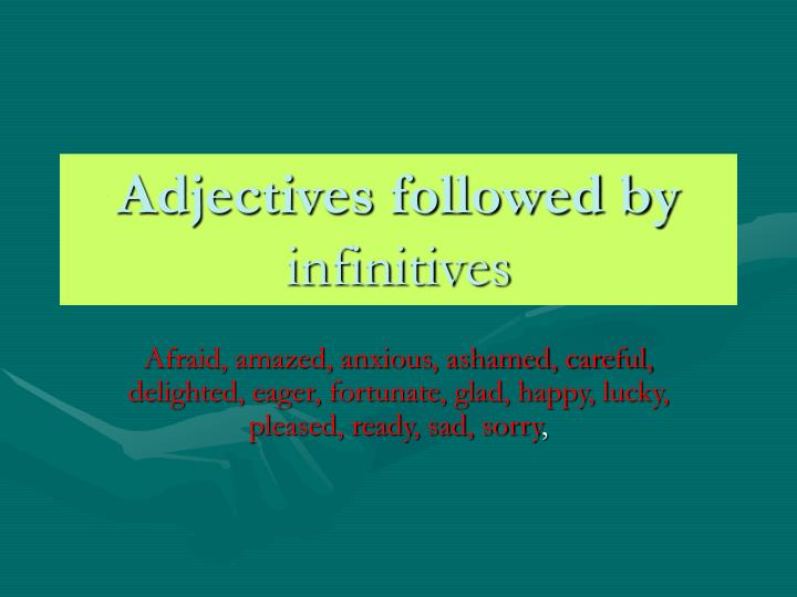 Adjectives followed by