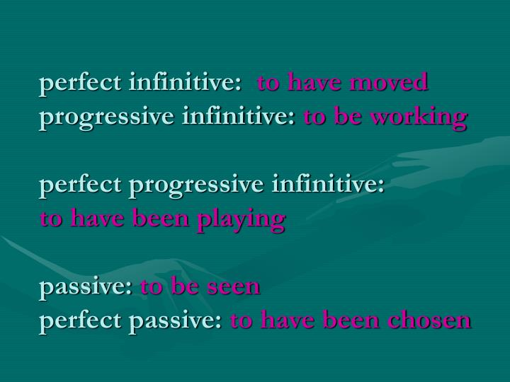 perfect infinitive: