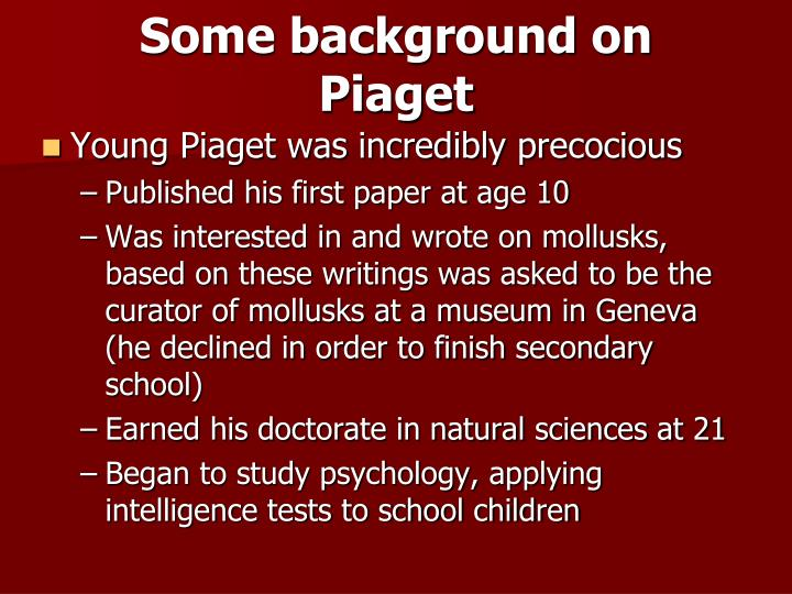 jean piaget 2 essay An essay on jean piaget's contribution to understanding child development 1,291 words 3 pages piaget's theory of cognitive development 838 words 2 pages a study of the theory of kohlberg 669 words 1 page jean piaget's research on cognitive development in the 20th century 2,570 words 6 pages.