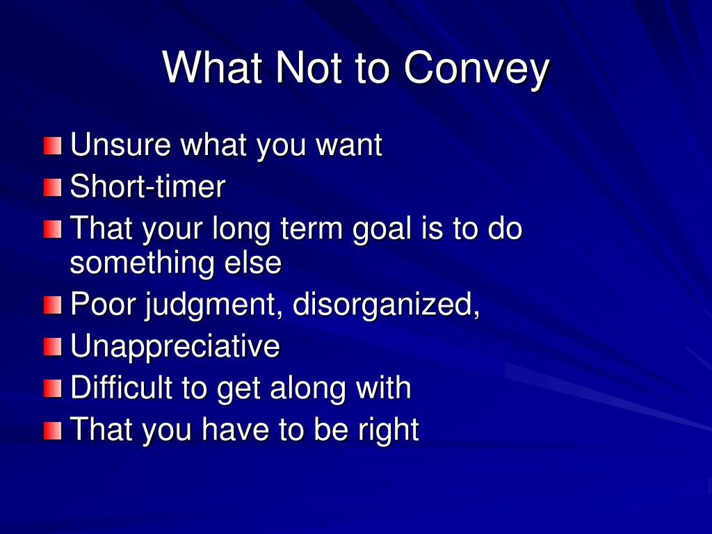 What Not to Convey