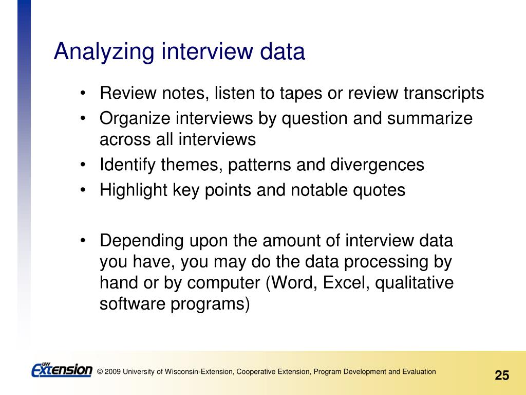 Analyzing interview data