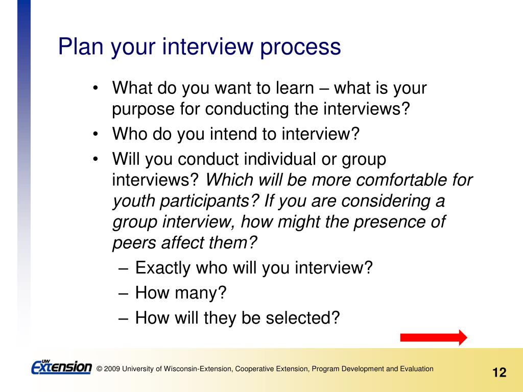 Plan your interview process