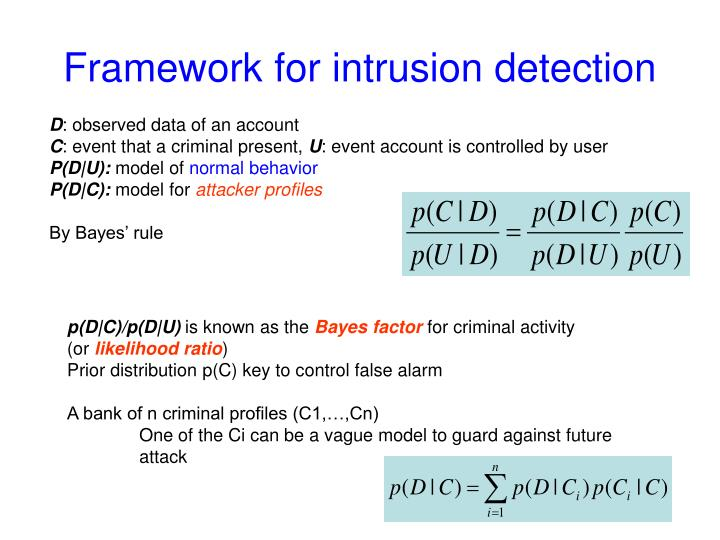 Framework for intrusion detection