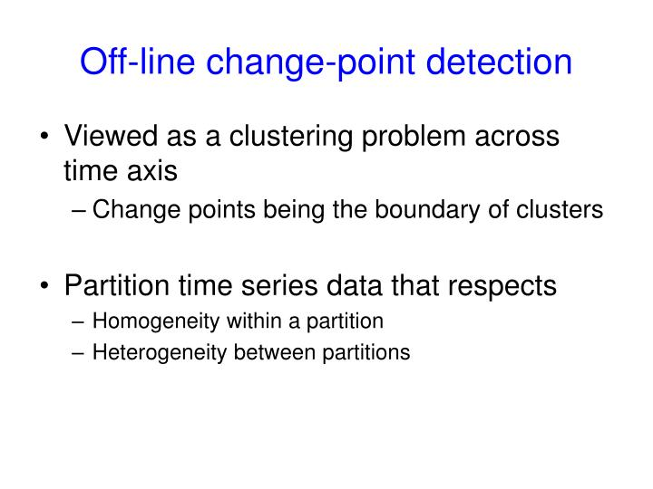 Off-line change-point detection