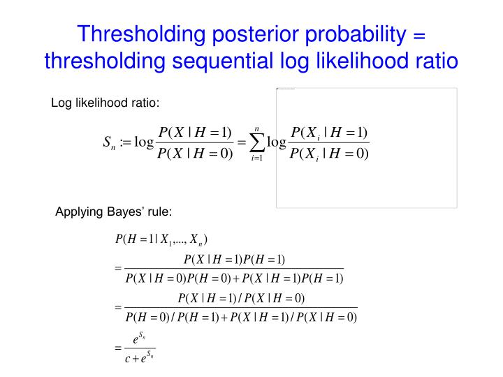 Log likelihood ratio: