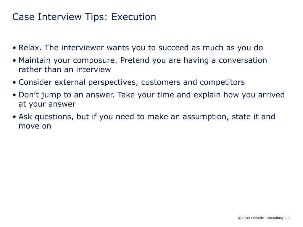 Case Interview Tips: Execution