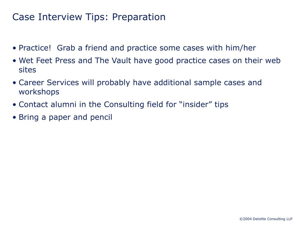 Case Interview Tips: Preparation