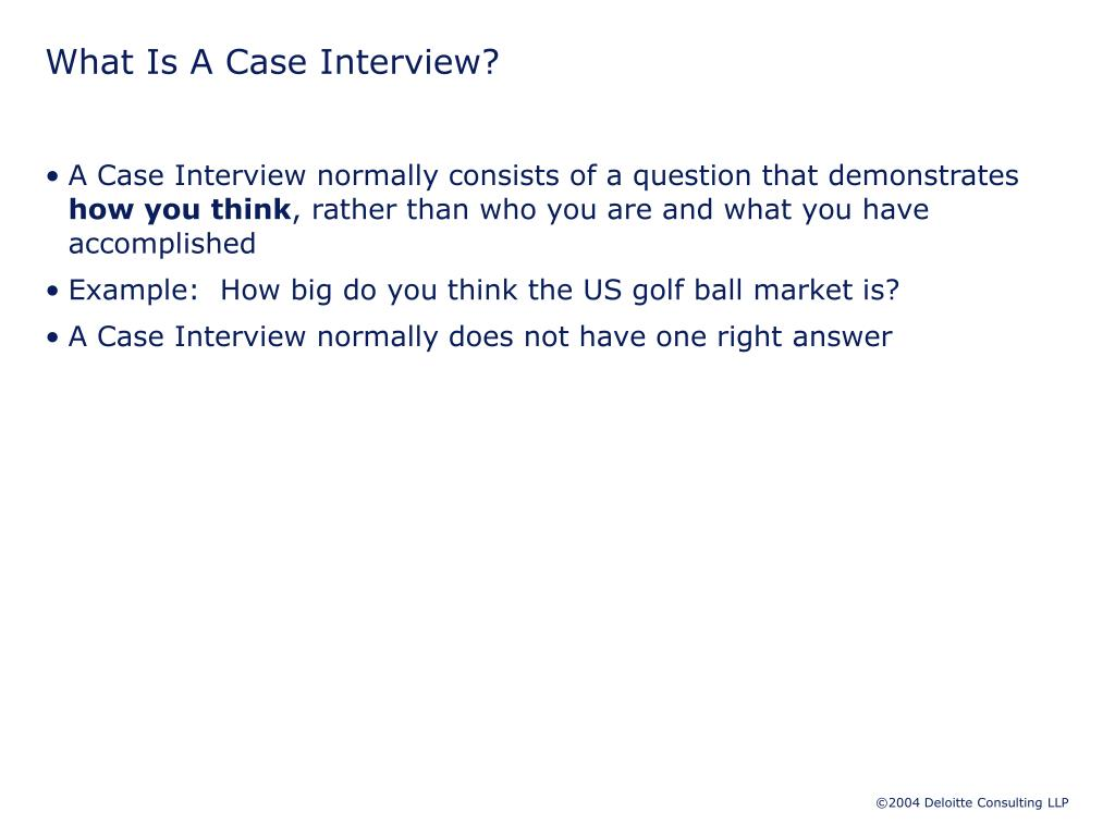 What Is A Case Interview?