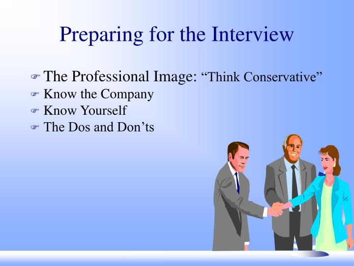Preparing for the interview l.jpg