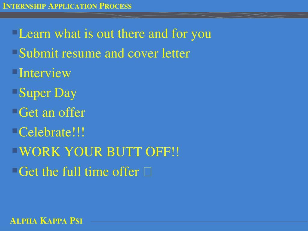 Internship Application Process