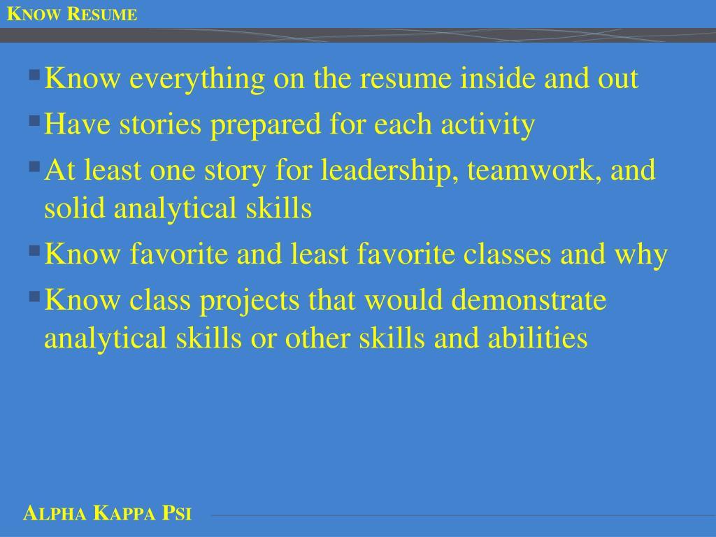 Know Resume