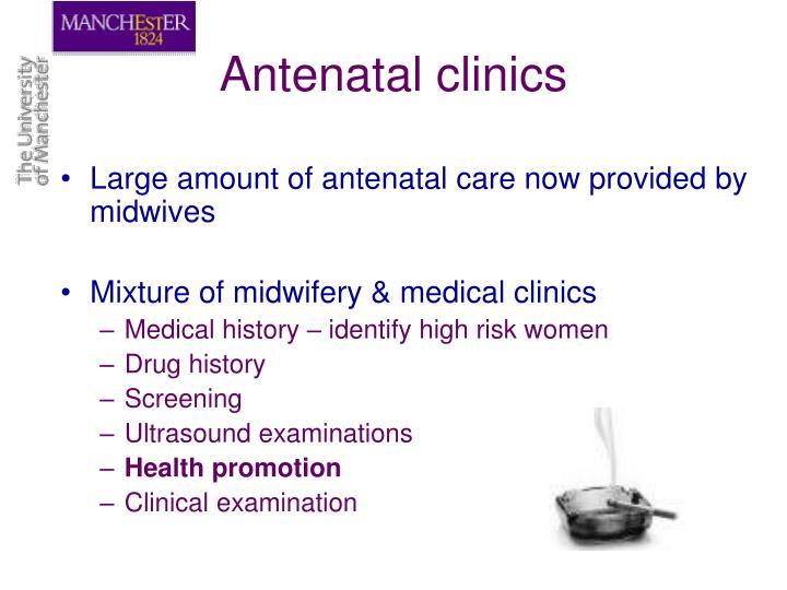 Antenatal clinics