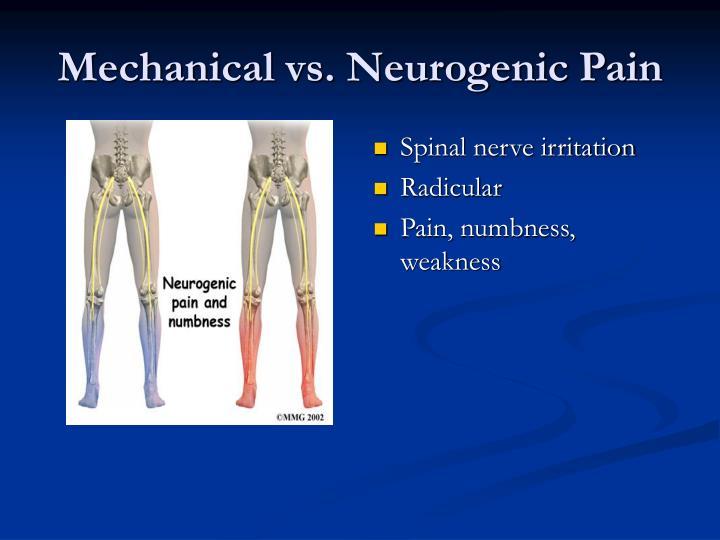 Spinal nerve irritation