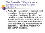 the brussels ii regulation jurisdiction in the matters of parental responsibility2