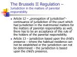 the brussels ii regulation jurisdiction in the matters of parental responsibility3