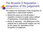 the brussels ii regulation recognition of the judgement