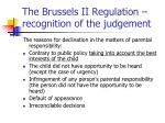 the brussels ii regulation recognition of the judgement1