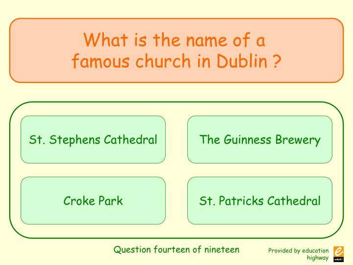 Question fourteen of nineteen