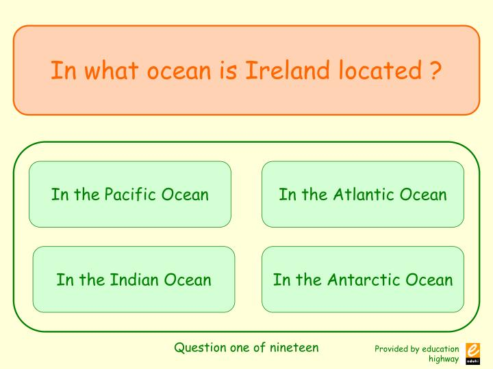 Question one of nineteen