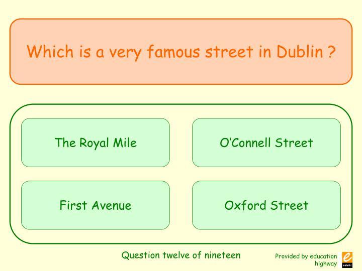Question twelve of nineteen