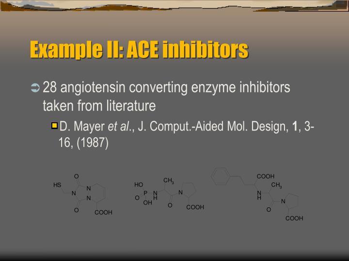 Example II: ACE inhibitors