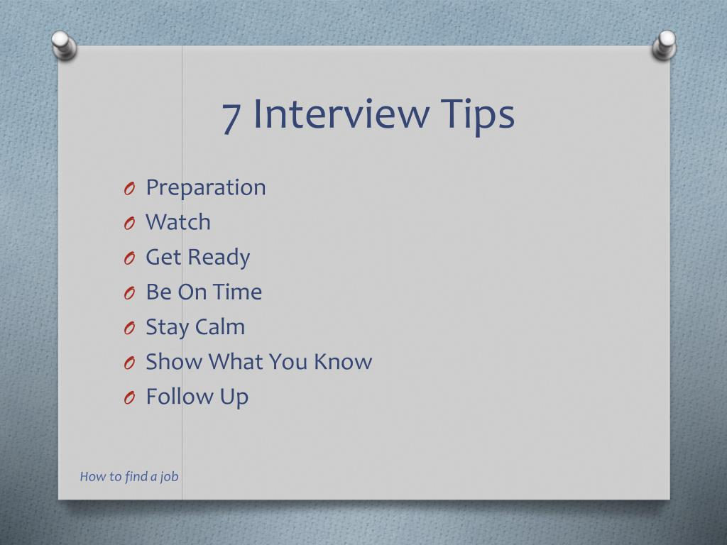 7 Interview Tips