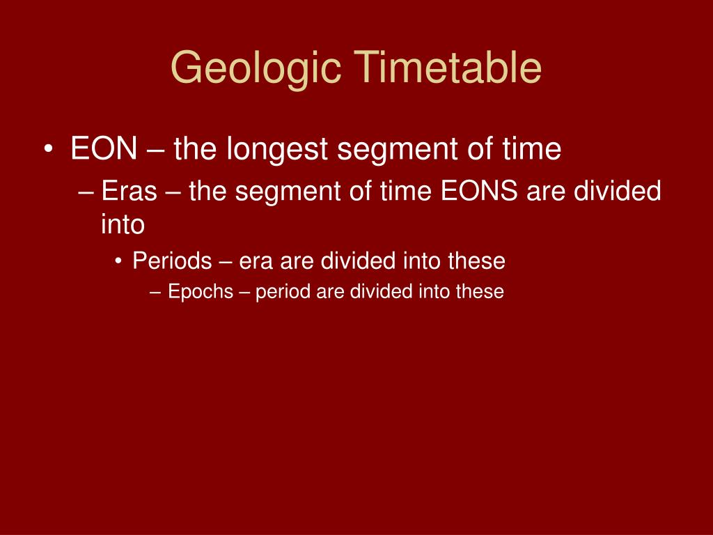 Geologic Timetable