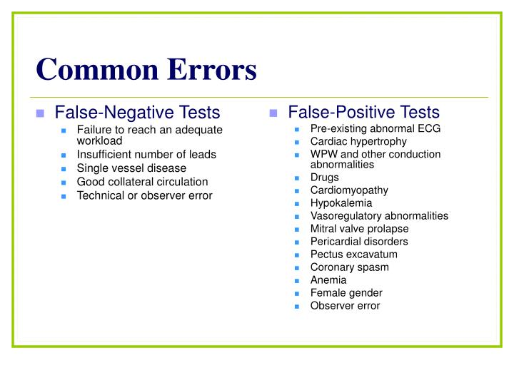 False-Negative Tests