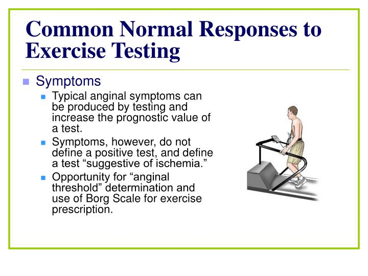 Common Normal Responses to Exercise Testing