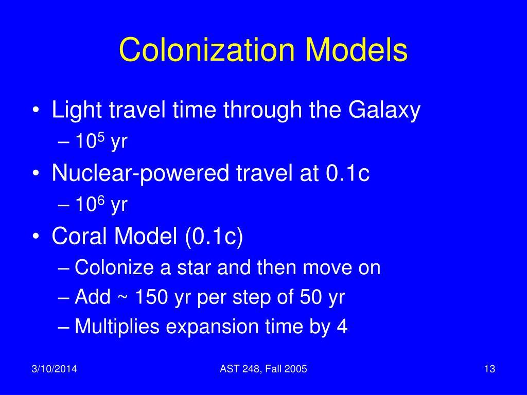 Colonization Models