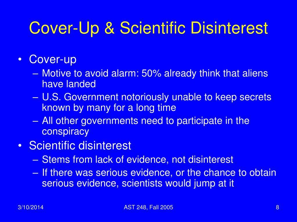 Cover-Up & Scientific Disinterest
