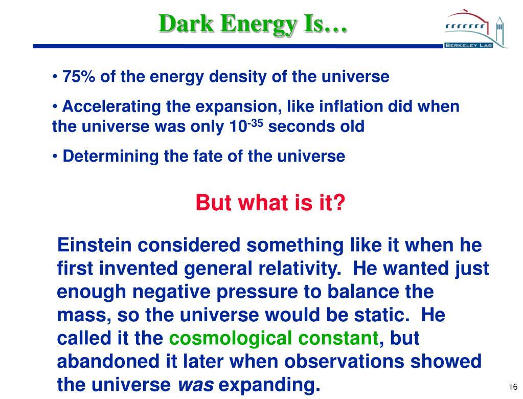 Dark Energy Is