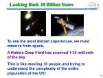 looking back 10 billion years29