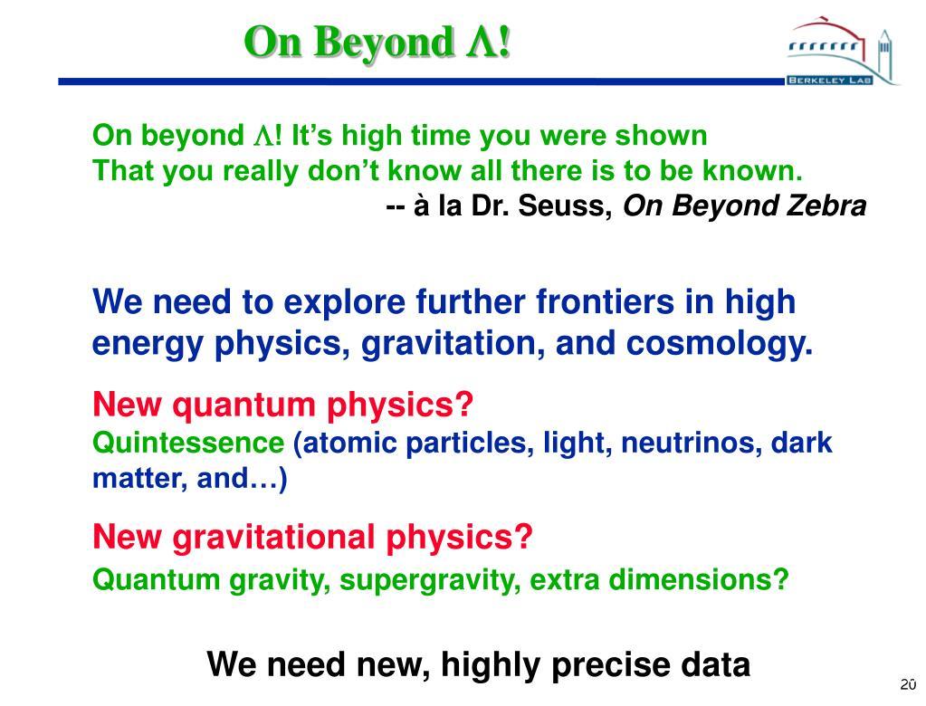 On Beyond