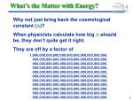 what s the matter with energy