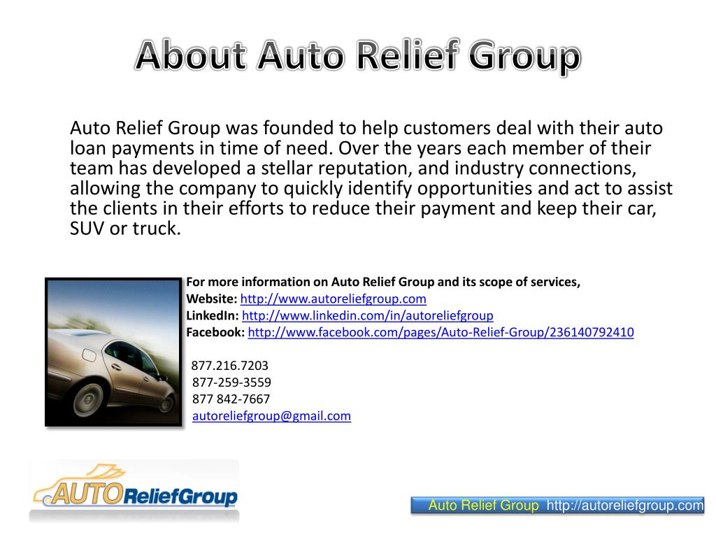 About Auto Relief Group