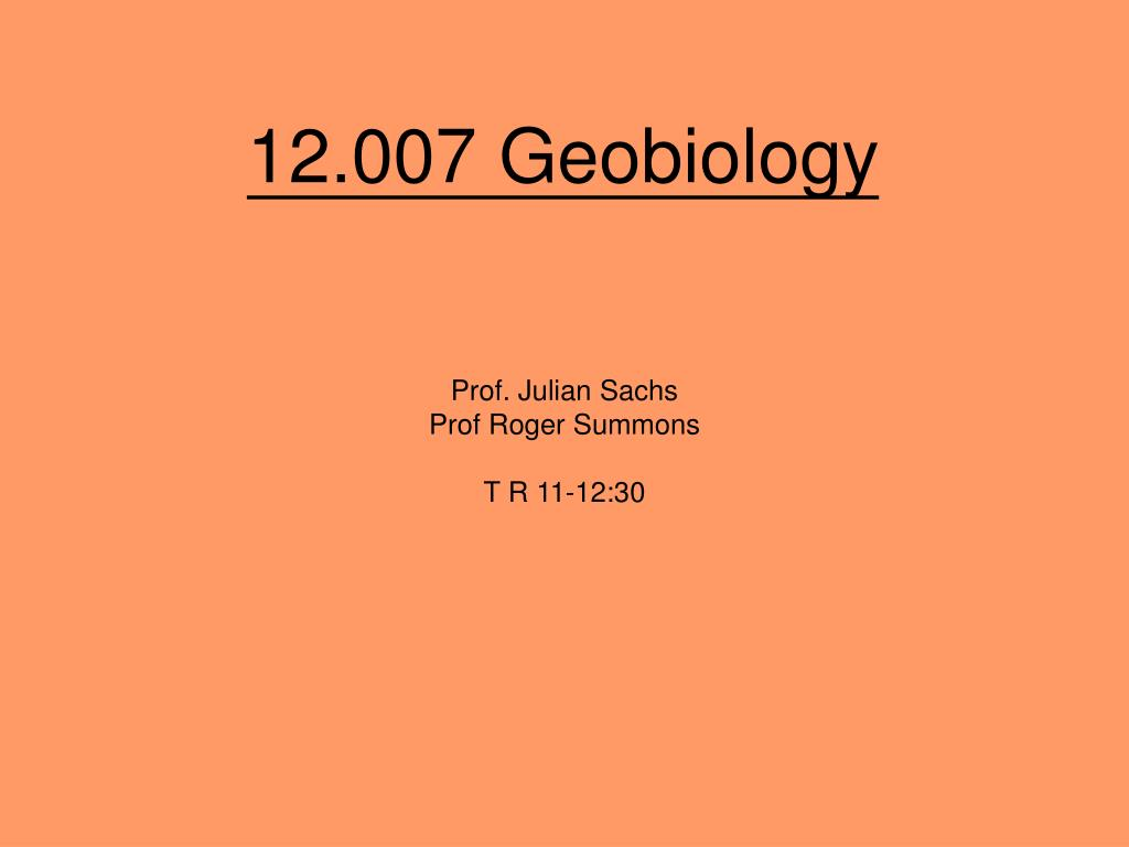 12.007 Geobiology