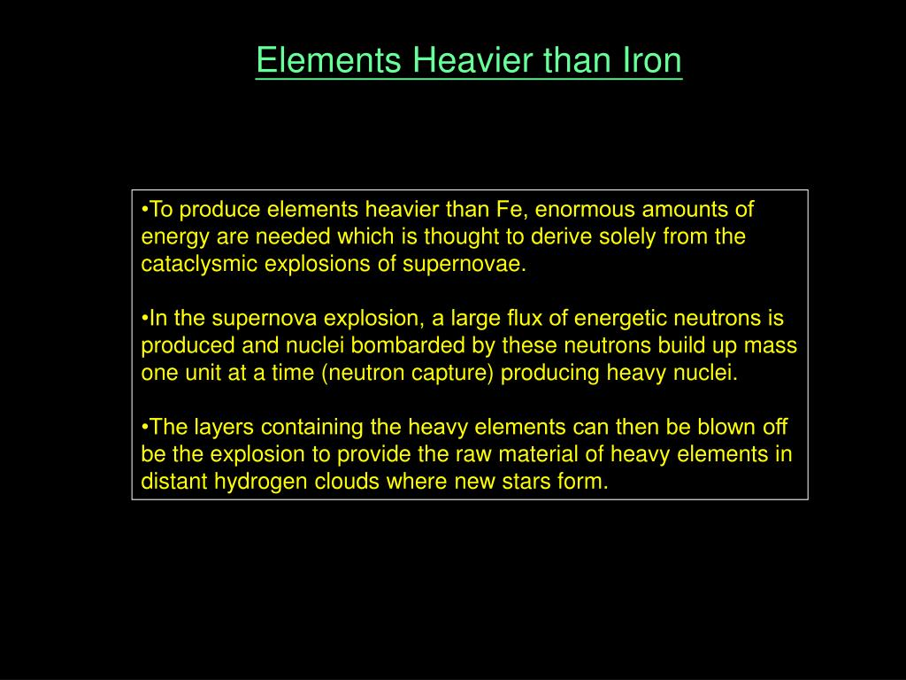 Elements Heavier than Iron