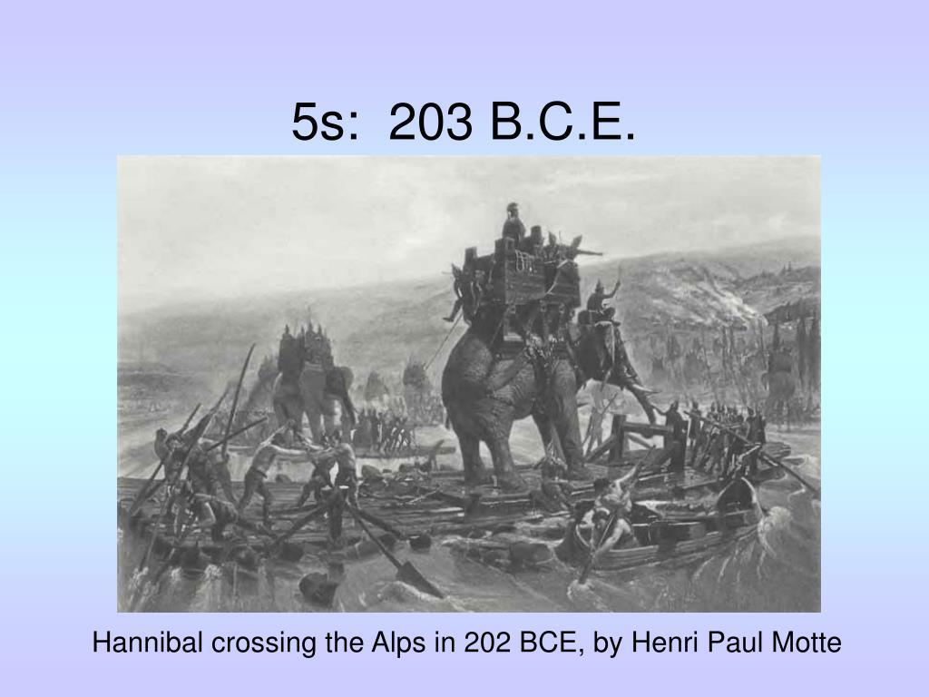 5s:  203 B.C.E.